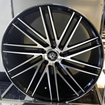White Diamond 3307 Machined Black Wheels