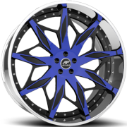 Amani Respecto Black and Blue Wheels
