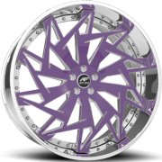 Amani Visionary Purple and Chrome Wheels
