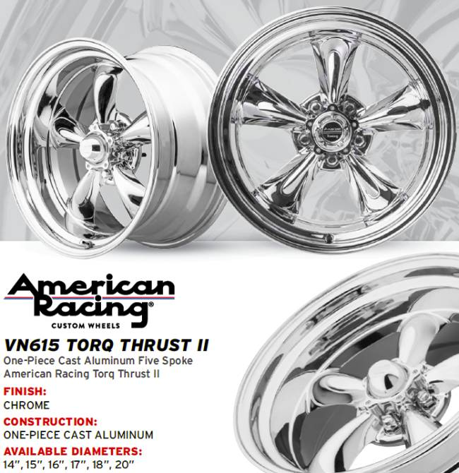 New American Racing VN615 Chrome Torq Thrust II