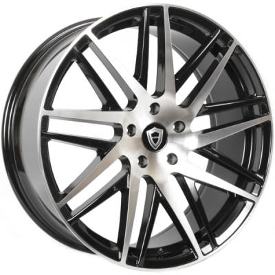 Capri 0103 Gloss Black Machined Wheels