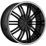 Cratus CR008 Gloss Black Machined Ring