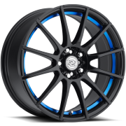 Drag Concepts R16 Gloss Black with Blue Inner Cut