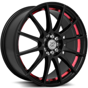 Drag Concepts R16 Gloss Black with Red Inner Cut