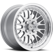 Drag Concepts R17 Silver Machine Wheels