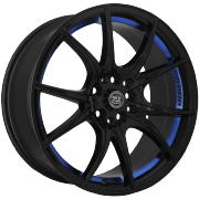 Drag Concepts R27 Gloss Black with Blue Inner Cut