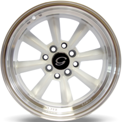 White Diamond White Machined Wheels
