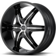Helo HE891 Gloss Black with Chrome Accent Wheels