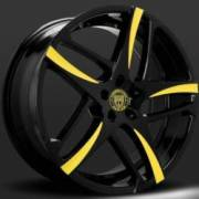 Lexani Bavaria Black and Yellow Wheels