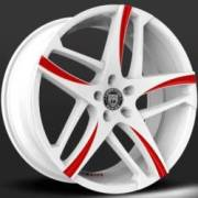 Lexani Bavaria White and Red Wheels