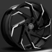Lexani Cyclone Black Machine Tip Wheels