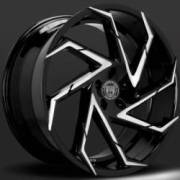 Lexani Cyclone Black Machine Wheels