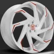 Lexani Cyclone White and Red Wheels