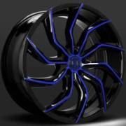 Lexani Matisse Black and Blue Wheels