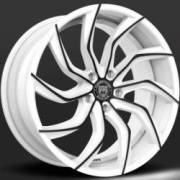 Lexani Matisse White and Black Wheels