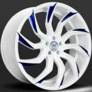 Lexani Matisse White and Blue Wheels