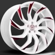 Lexani Matisse White and Red Wheels