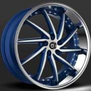 Lexani Artemis Navy Blue and White Custom Wheels
