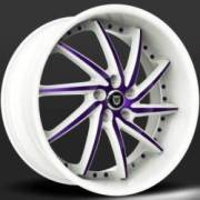 Lexani Artemis Purple and White Wheels