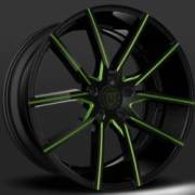 Lexani Gravity Black and Green Wheels