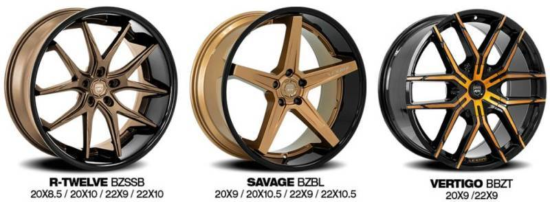 Lexani Bronze Finish Wheels
