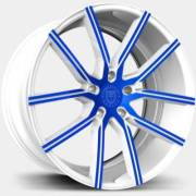 Lexani Gravity Custom Blue and White Wheels