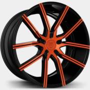 Lexani Gravity Orange and Black Wheels