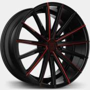 Lexani Pegasus Black Wheels with Red Milling