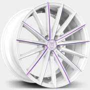 Lexani Pegasus White Wheels with Purple Accent