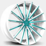 Lexani Pegasus White and Teal Wheels