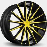 Lexani Pegasus Black and Yellow Wheels