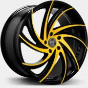 Lexani Twister Black and Yellow Wheels