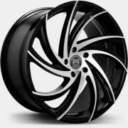 Lexani Twister Machine Black Wheels