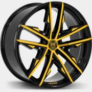 Lexani Venom Black and Yellow Wheels