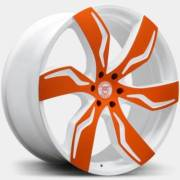 Lexani Zegato Custom Orange and White Wheels