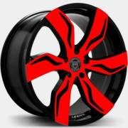Lexani Zegato Red and Black Wheels