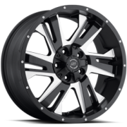 SenDel S36 Night Hawk Matte Black Milled Wheels