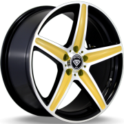 White Diamond W-253 Black and Gold Wheels