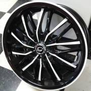 White Diamond W3108 Black and White Wheels