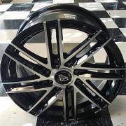 White Diamond WD-4308 Machine Black Wheels