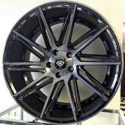 White Diamond WD-4617Machine Black Wheels