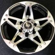 White Diamond 5313 Machined Black Wheels
