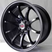 White Diamond 1018 Matte Black Wheels