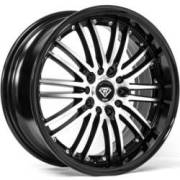White Diamond WD-820 Machined Face Black Wheels