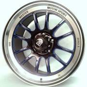 White Diamond 0089 Blue Window Custom Wheels