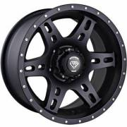 White Diamond 2757 Matte Black Wheels