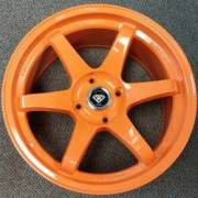 White Diamond 6011 Metallic Orange Custom Wheels
