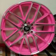 White Diamond 0029 Pink Machined Wheels