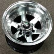 White Diamond 3910 Machined Black Wheels
