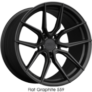 XXR 559 Flat Graphite Wheels